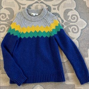 Boden | Cozy Blue Green Yellow and Grey Sweater 😍